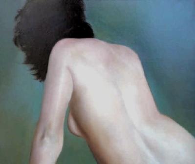 Nue, 2014, huile sur massonite, (20 x 16 po) © Gilles Jean Marie