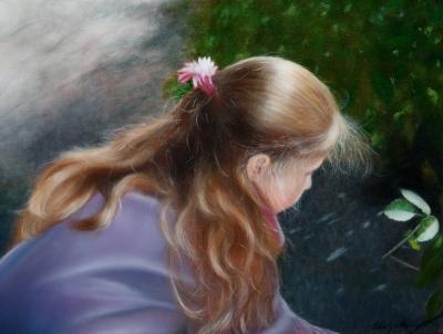 Portrait | fillette aux cheveux longs @ Gilles Jean-Marie