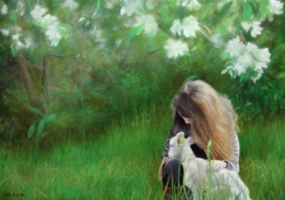 Portrait | fillette et agneau @ Gilles Jean-Marie