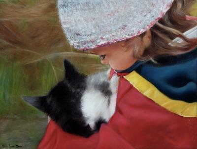Portrait | fillette et chat @ Gilles Jean-Marie